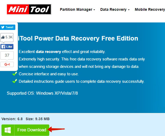 загрузка power_data_recovery_free