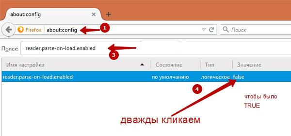 Включаем режим чтение в Firefox