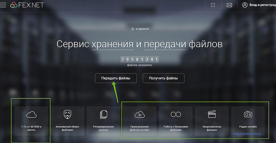 Главная страница FEX.NET