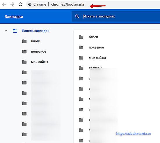 закладки браузера